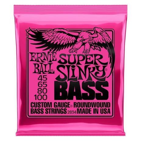 Imagem de Encordoamento 045-100 Ernie Ball p/Baixo 4 Cordas Super Slinky Niquel