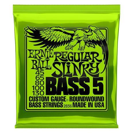 Imagem de Encordoamento 45-130 baixo 5 cordas regular slinky ernieball - Ernie Ball