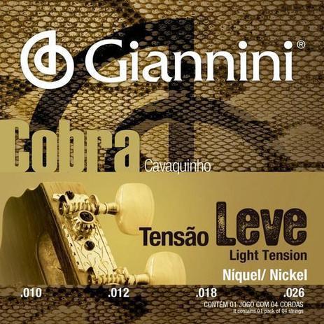 Imagem de Encordoamento Cavaquinho Leve Giannini Cobra Niquel Gescl