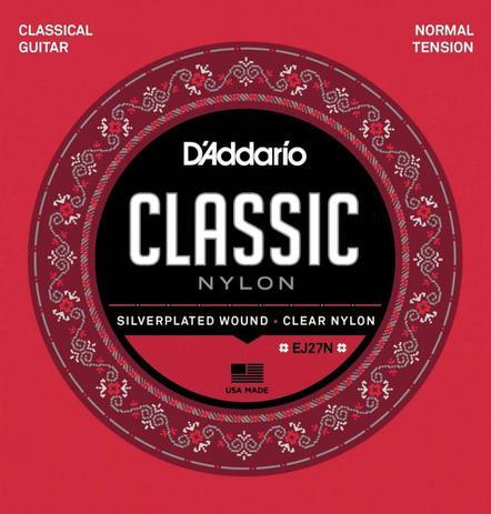 Imagem de Encordoamento D'Addario Violão EJ27N Classic Nylon Tensao M