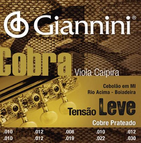 Imagem de Encordoamento Giannini Cobra Tensão Leve Viola Caipira