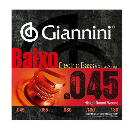Imagem de Encordoamento Giannini GEEBRS-5 .045/.130 para Contrabaixo