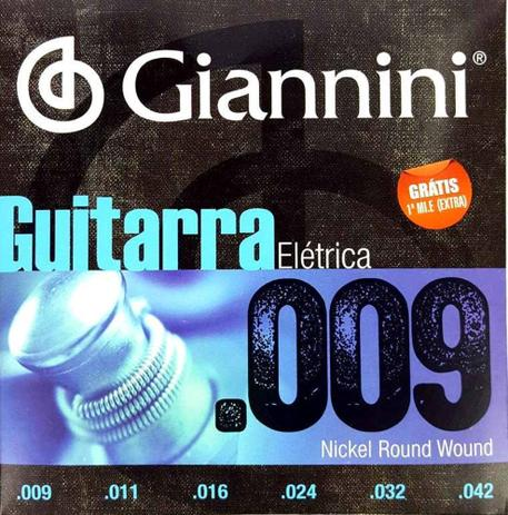 Imagem de Encordoamento Guitarra Elétrica 009 042 Giannini