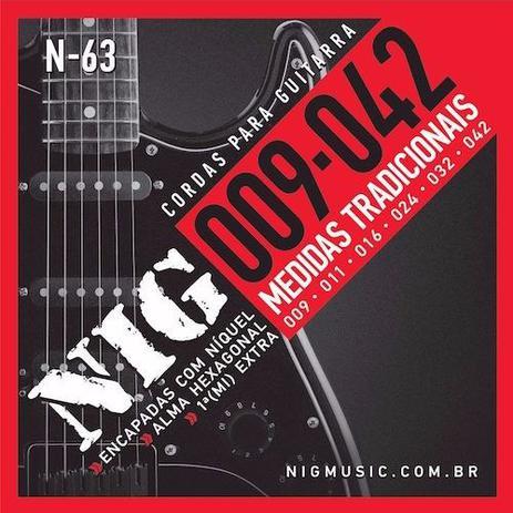 Imagem de Encordoamento guitarra nig n63 09 extra
