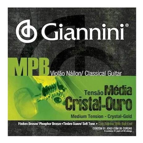Imagem de Encordoamento p/ violão giannini nylon genwg cristal/ouro