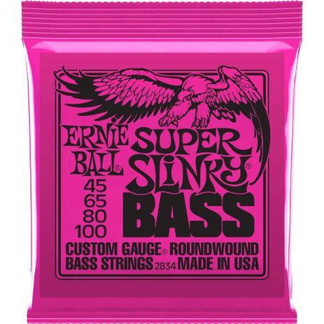 Imagem de Encordoamento Para Baixo 4 cordas 045 Ernie Ball Super Slinky Niquel 02834