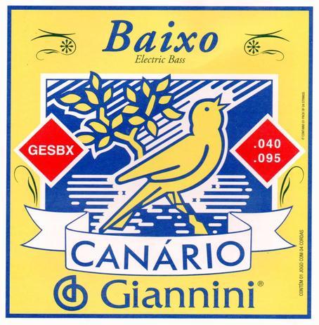 Imagem de Encordoamento Para Contrabaixo 4 Cordas Canário .040 GESBX Giannini