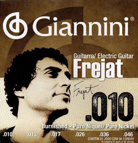 Imagem de Encordoamento para Guitarra .010 Pure Nickel Signature Frejat Giannini