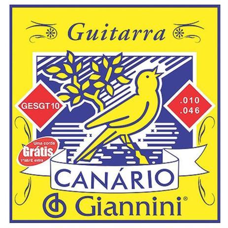 Imagem de Encordoamento Para Guitarra Canário Aço 010 Gesgt10 Giannini