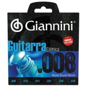 Imagem de Encordoamento para Guitarra GEEGST8 Super Leve 0.08 Giannini