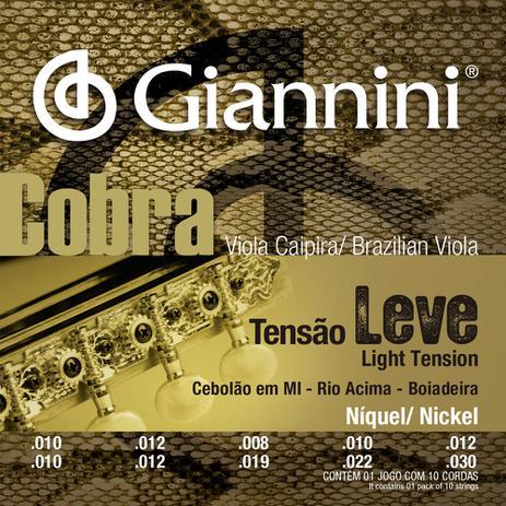 Imagem de Encordoamento para Viola Niquel Leve Cobra GESVNL - Giannini