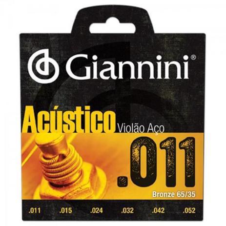 Imagem de Encordoamento para Violao GESPW Serie Acustico ACO 0.11 Giannini