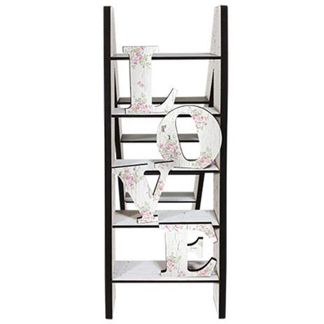 Imagem de Enfeite de Mesa em MDF Litoarte DHPM5-113 30x21,8 Escada Love