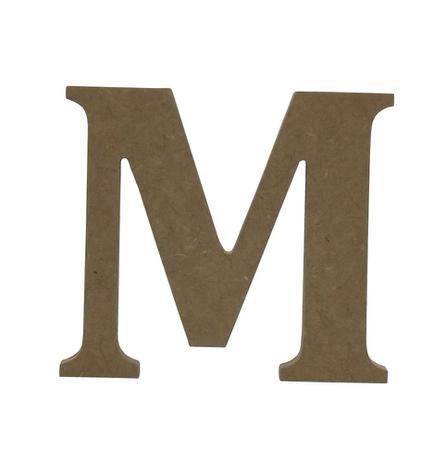 """c45837c0b3ca1 Enfeite de Mesa Letra """"M"""" 12cm x 18mm - Madeira MDF - Palácio da arte"""