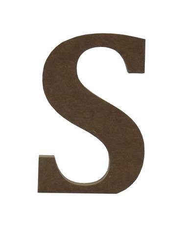 """Enfeite de Mesa Letra """"S"""" 12cm x 18mm - Madeira MDF - Palácio da arte 54af741753"""