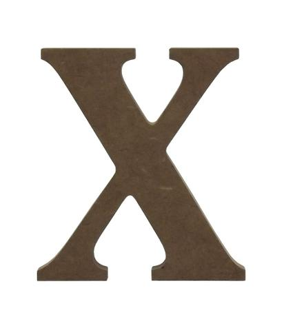 """0d842304e6f62 Enfeite de Mesa Letra """"X"""" 12cm x 18mm - Madeira MDF - Palácio da arte"""