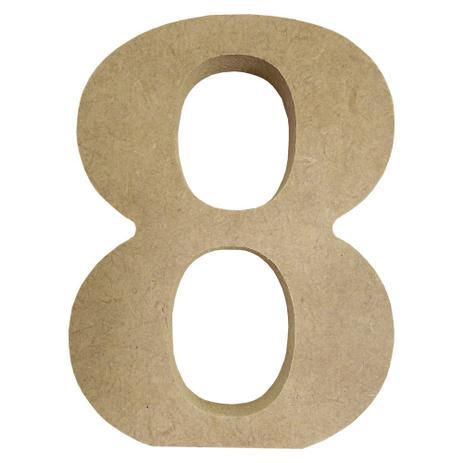 """3d5eca0d8ae88 Enfeite de Mesa Número """"8"""" 12cm x 18mm - Madeira MDF - Palácio da arte"""