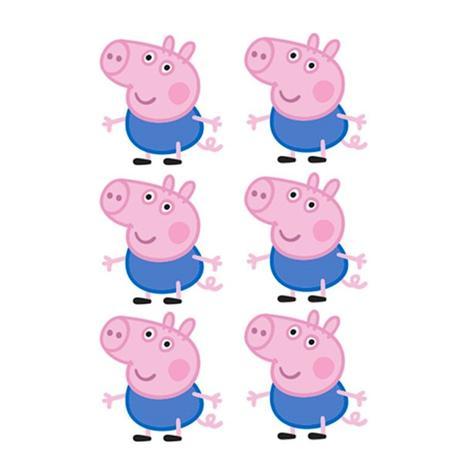 Enfeite Mini Personagem George Pig Peppa Pig 06 Unidades Piffer