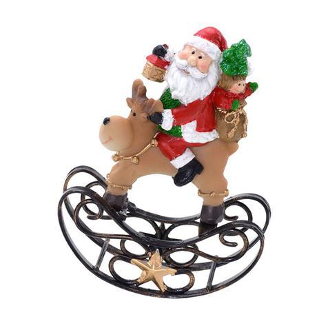 Imagem de Enfeite Papai Noel Com Rena 11cm Espressione Christmas