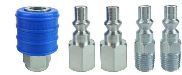 Imagem de Engate rapido kit 1/4  - 5 pcs - azul