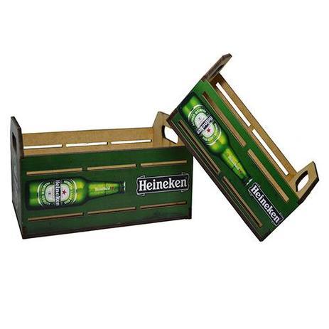 Imagem de Engradado Modelo Cerveja Garrafa Para Home Bar Decorativo Grande em MDF HK