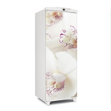 Imagem de Envelopamento De Geladeira Porta Orquídeas Lilás 150X60cm