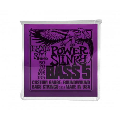 Imagem de Ernie Ball - Encordoamento Para Baixo (.050/.135) 5String Power Slinky 2821