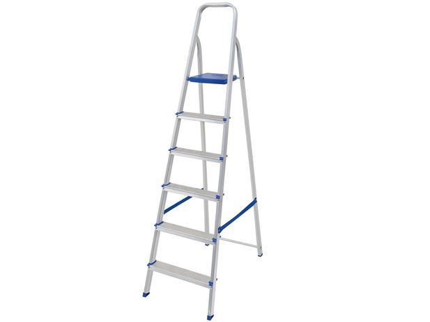 a49bfa9f49 Escada 6 Degraus Alumínio Mor - 5104 - Escadas - Magazine Luiza