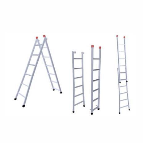 Menor preço em Escada Extensiva 5x8 Degraus 1,50x2,60m Ferro 120Kg 3 em 1 -205 NV - Novoletto