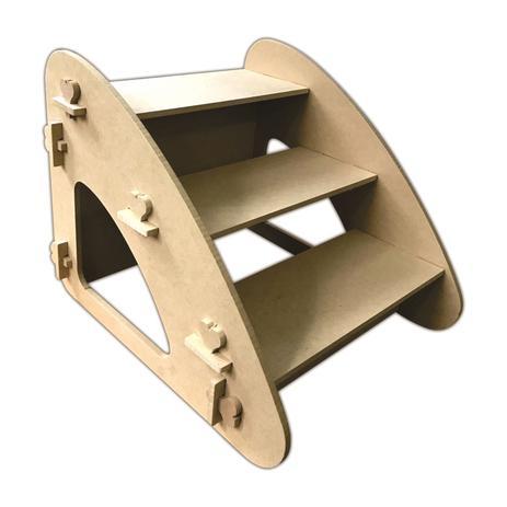 Imagem de Escada Rampa Pet Dog Cachorro Gatos Para Subir Sofa Cama Mdf