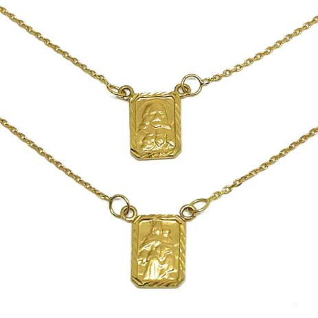 330f94f59a7 Escapulário Em Ouro 18k Com Medalha Diamantada - Glamour - Colar ...