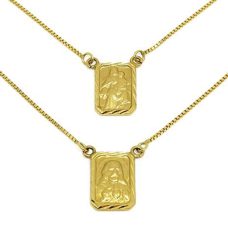 22d7dc255c04e Escapulário Em Ouro 18k Veneziana Medalha Diamantada - Glamour ...