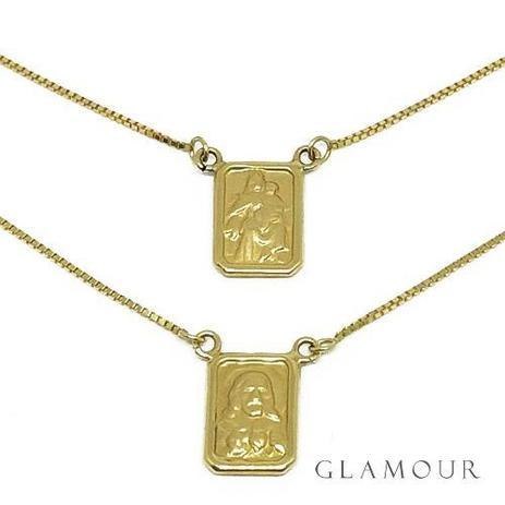 35378c65d799b Escapulário Em Ouro 18k Veneziana Tradicional - Glamour - Colar ...