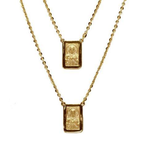 412e89062df29 Escapulário Masculino Ouro 18k - cod.825 - Retran joias - Colar ...