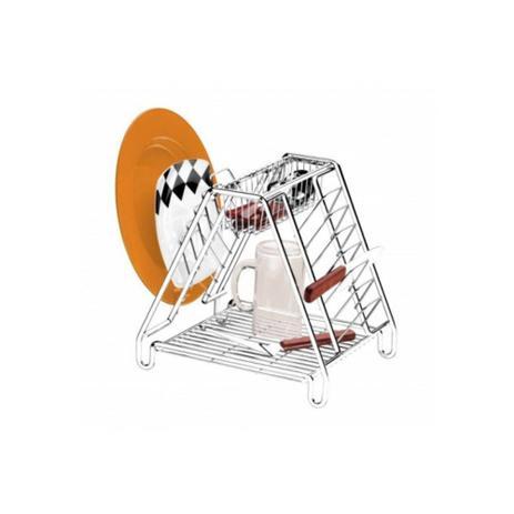 Imagem de Escorredor de louças para pia em aço cromado 14 pratos 1393
