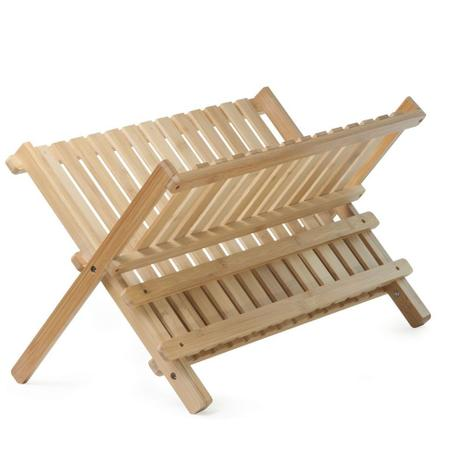 Imagem de Escorredor de pratos feito de bambu para 12 pratos