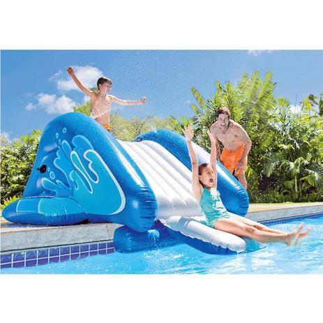 Imagem de Escorregador Inflável Water Slide C/ Bomba Piscina - Intex