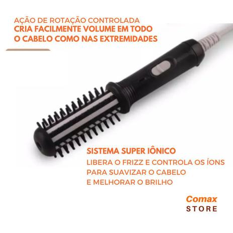 Imagem de Escova Alisadora Rotativa Professional Para Cabelo Bivolt