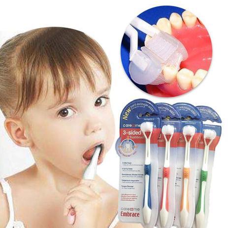 Imagem de Escova de dentes cerdas macias - 3 lados para bebê