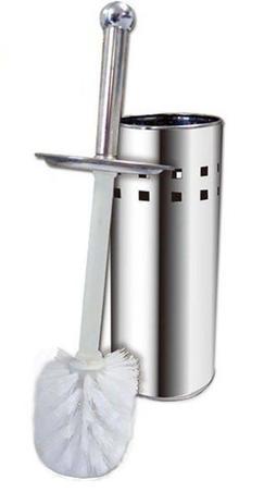 Imagem de Escova De Limpar Vaso Sanitário Suporte Aço Inox