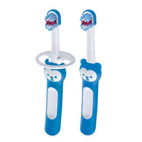 Imagem de Escova mam babys brush - embalagem dupla - azul - 8115