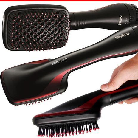 Imagem de Escova Modeladora Philco Soft Brush Seca Modela Alisa 110v