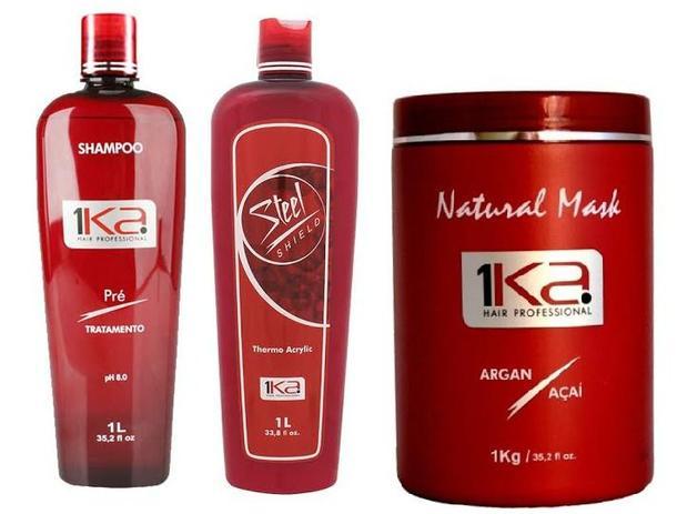 5ae2fa6b0 Escova Progressiva 1ka Steel, Shampoo Ativo E Maski Kit. - 1ka hair  professional