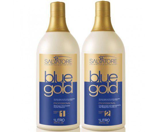 d807a5f21 Escova Progressiva Salvatore Blue Gold- 2x1L - Progressiva para ...