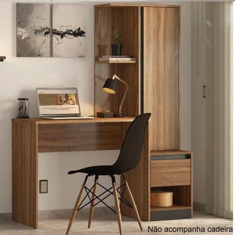 Imagem de Escrivaninha com Armário 1 Porta 1 Gaveta Morada Demobile