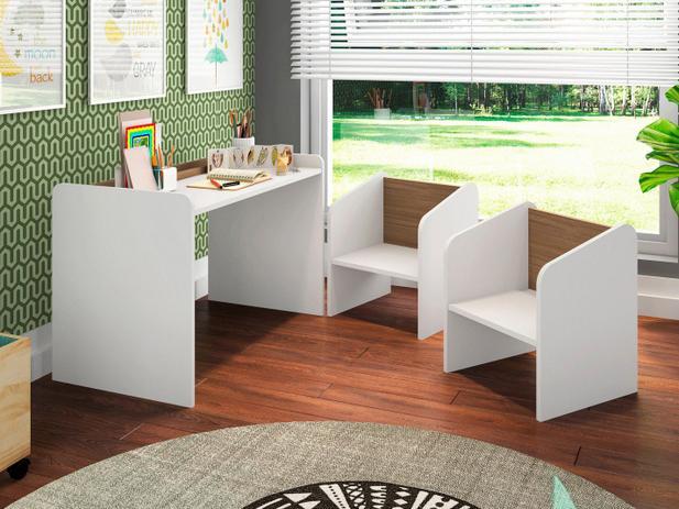 Imagem de Escrivaninha para Quarto Infantil 2 Cadeiras