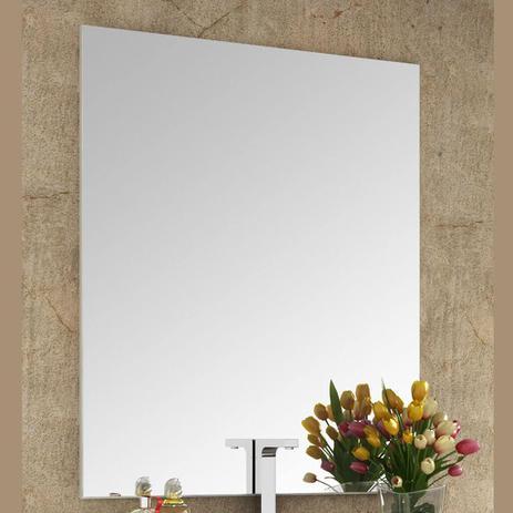 Imagem de Espelheira para Banheiro com Painel 80cm Branco em MDF Lilies Móveis