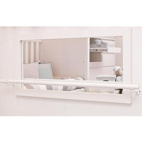 Imagem de Espelho com Barra de Apoio Montessoriano para Bebê - Branco