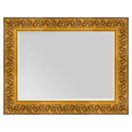 b879ff48f Espelho com Moldura na cor Dourado Envelhecido com Bisotê - Decore pronto