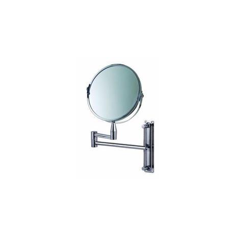 Imagem de Espelho de aumento articulado dupla face giratorio para banheiro e salao de parede para barba e maqu
